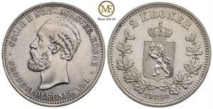 2 kroner 1900 Oscar II. Kv.01