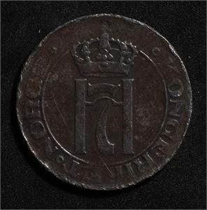 5 øre 1918 Norge 1/1+ Flere kanthakk