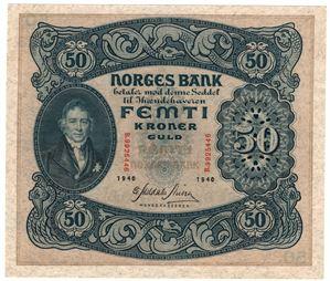 50 kroner 1940 B. Kv.01