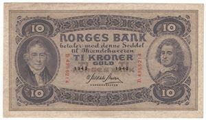10 Kroner 1943 D. Kv.1+/01