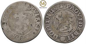 16 skilling/mark 1653 Frederik III. NMD.175. Kv.1-