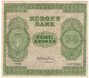 50 kroner 1945 A.0572268. Kv.1