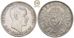 2 kroner 1913 Haakon VII. Kv.01