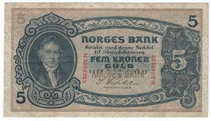 5 kroner 1932 M. Kv.1