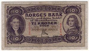 10 kroner 1903 A.4982030. Kv.1+/01