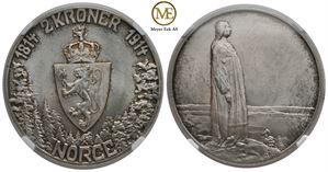 2 kroner 1914 Mor Norge. Kv.0