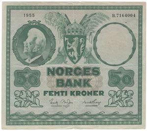 50 kroner 1955 B. Kv.1/1+