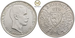 2 kroner 1915 Haakon VII Kv.0/01