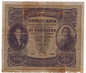 100 kroner 1903 A.0411744 RR-Sedde. Kv.1-/2