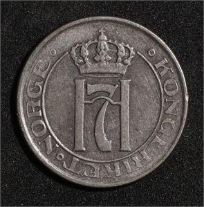 2 øre 1917 Norge 1/1+ Dobbeltstrek