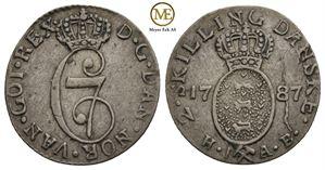 2 skilling 1787 Christian VII. NMD.84. Kv.1+