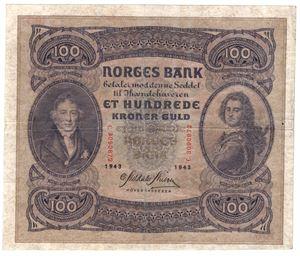 100 kroner 1943 C. Kv.1
