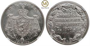 2 Kroner 1906 Jub. Haakon VII. Kv.0