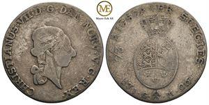 1/3 speciedaler 1796 Christian VII. NMD.23b. Kv.1