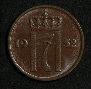 5 øre 1952 Norge 0 Type II