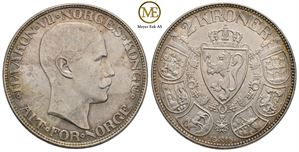 2 kroner 1915 Haakon VII. Kv.0