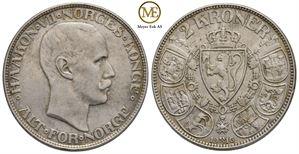 2 kroner 1916 Haakon VII. Kv.1/1+