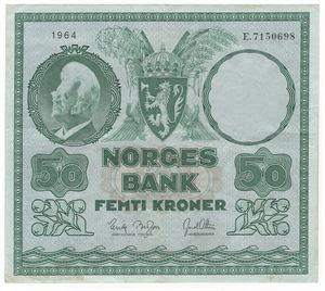 50 kroner 1964 E. Kv.1+