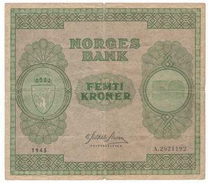 50 kroner 1945 A. Kv.1/1-