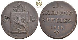 Skilling 1819 Carl XIV Johan. NM.58. Kv.1+