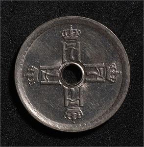 25 øre 1927 Norge 0/01