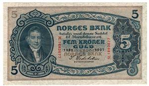 5 kroner 1931 M.1893677 Kv.01