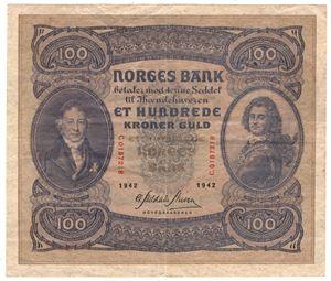100 kroner 1942 C. Kv.1