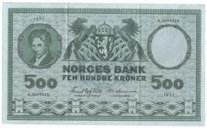 500 kroner 1971 A. Kv.1+
