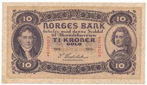 10 kroner 1919 H.0242164. Kv.0