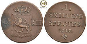 Skilling 1816 Carl XIII. NM.2. Kv.01