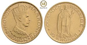 10 kroner 1910 Haakon VII. Kv.0/01