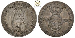 2 skilling 1788 Christian VII. NMD.85. Kv.1+
