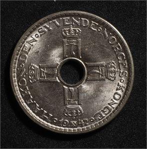 1 krone 1947 Norge 0