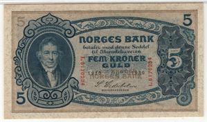 5 kroner 1930 L. Kv.0
