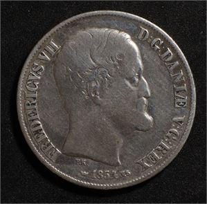 1 rigsdaler 1854 Danmark 1-