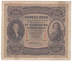 100 kroner 1940 B. Kv.1/1-
