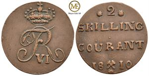 2 skilling 1810 Frederik VI. NMD.5a. Kv.1+/01