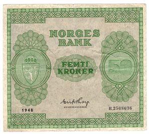 50 kroner 1948 B. Kv.1/1+