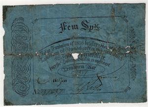 5 Speciedaler 1827 type II. Kv.1-/2