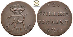 2 skilling 1811 Frederik VI. NMD.6. Kv.01
