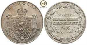 2 Kroner 1906 Jub. Haakon VII. Kv.0/01