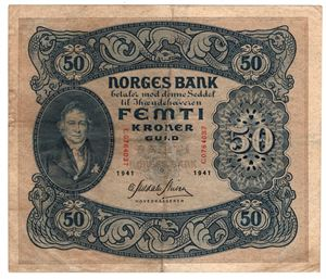 50 kroner 1941 C. Kv.1